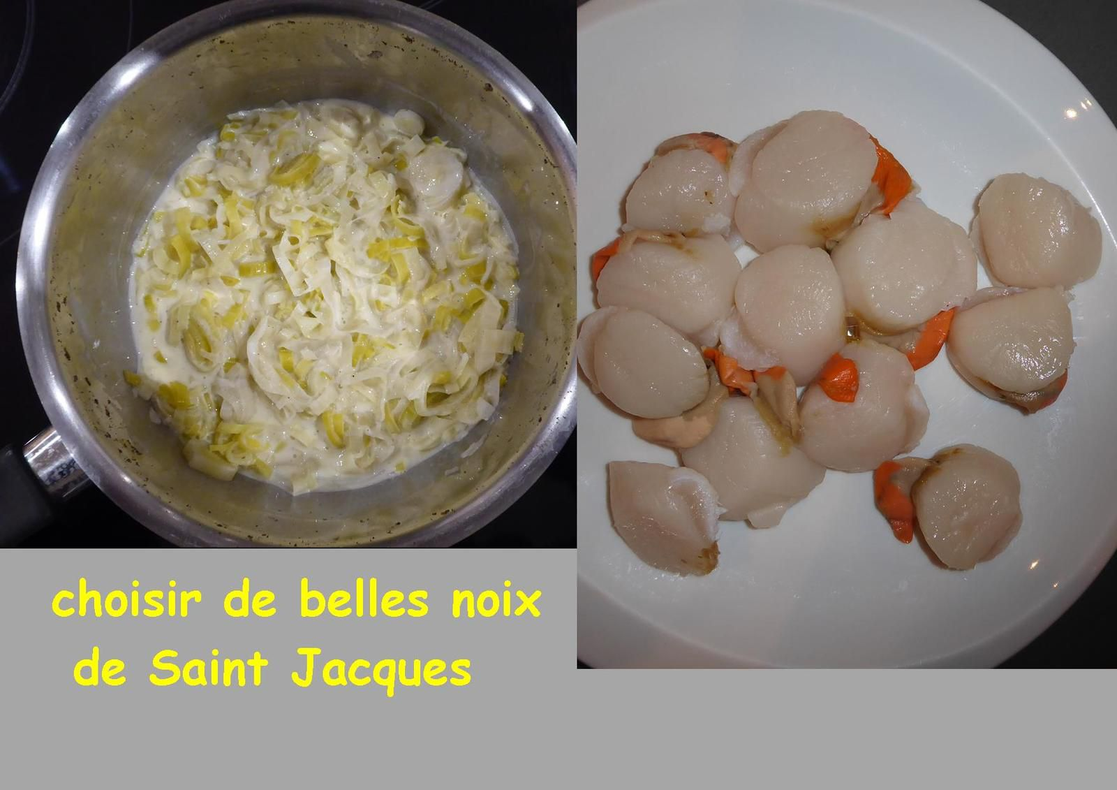 Recette : coquilles Saint Jacques aux poireaux