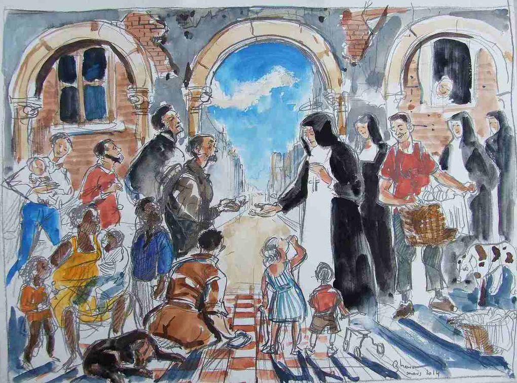 Sainte Jeanne de Chantal Dessins préparatoires 2014 Bhavsar