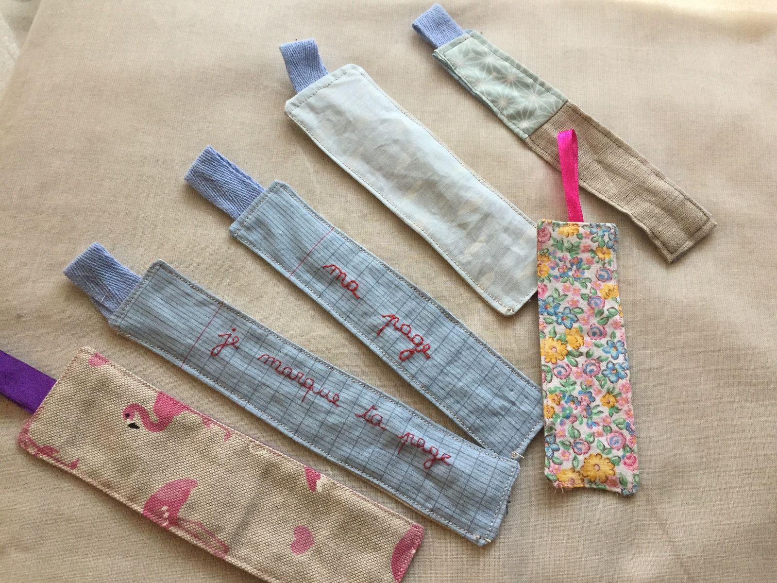 Marque page tissu