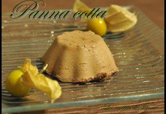 panna cotta au chocolat noisettes et à la fève tonka
