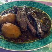 Lentille avec côtelettes d'agneau au four - http://www.petitsplaisirs.org/