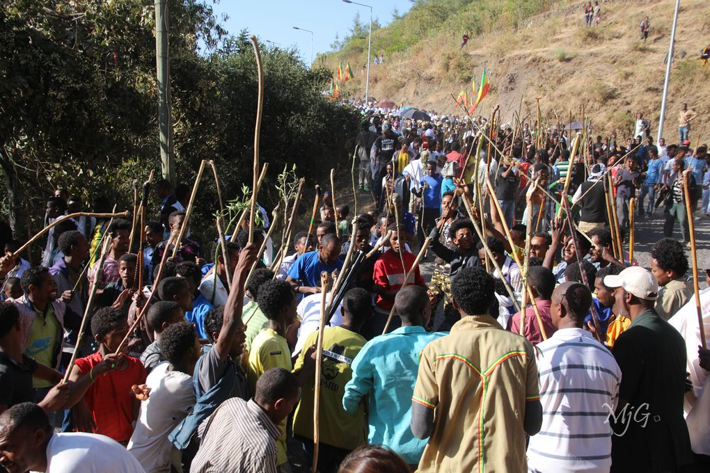 Photos de la fête de Timkat à Lalibela (remerciements à Marie-Jeanne Goblet pour les photos)