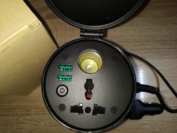 essai du gobelet chargeur convertisseur électrique de voiture 3 en 1 Aukey PA-V39