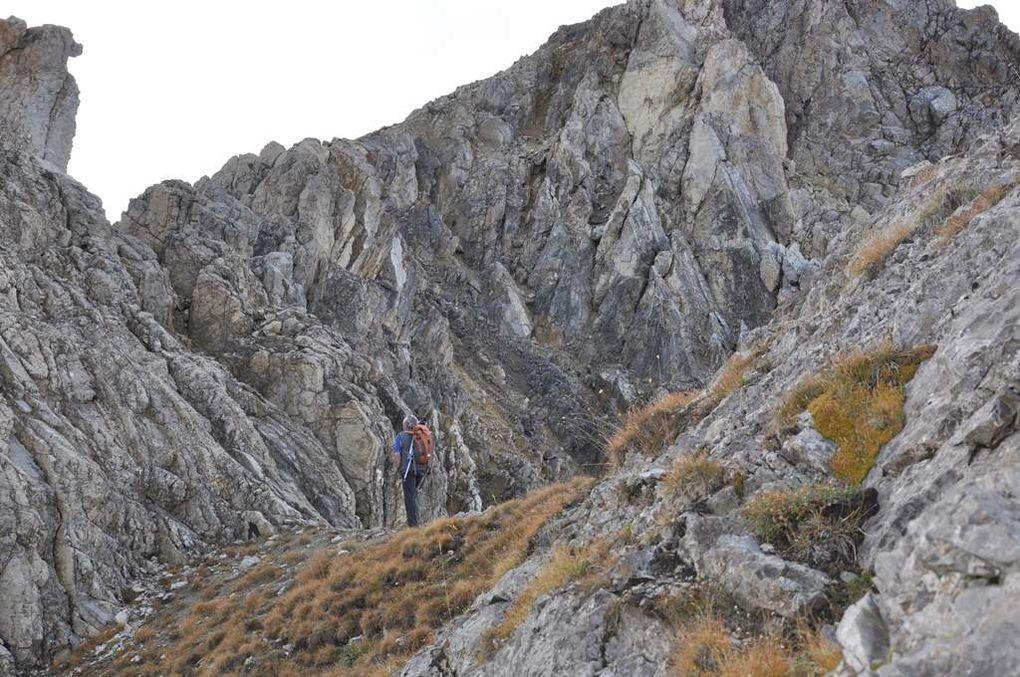 Ascension de Roche Gauthier à partir de la crête du Lenlon et descente par la ca Crête sud de ce même sommet  pour rejoindre le Col du Granon.
