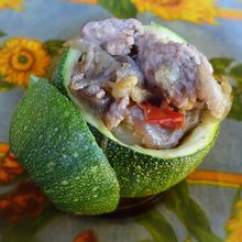 Courgettes rondes farcies...