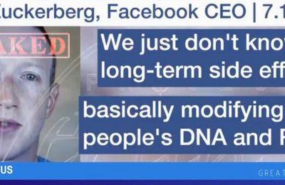 Une #vidéo fuitée expose Mark #Zuckerberg s'interrogeant sur les «effets secondaires à long terme de la modification de l'#ADN» dans le #vaccin