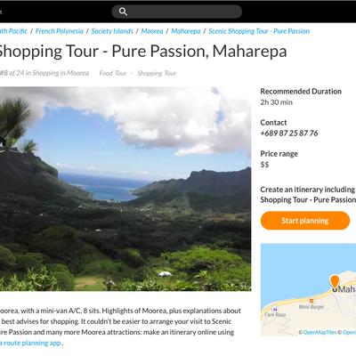 Inspirock avec Scenic Shopping Tour - Pure Passion