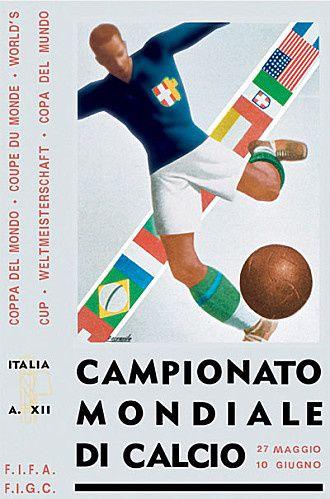 Fig.37, 37a : affiche  officieuse qui a inspiré l'image de certaines émissions, et carte postale officieuse signée des joueurs. Fig.38 et 38 l'affiche officielle de la compétition.