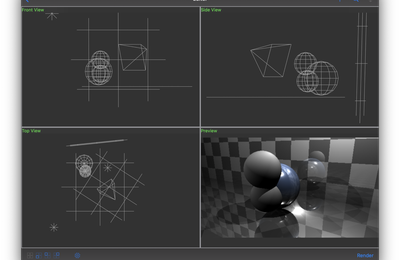 Excluding an object geometry from another one.