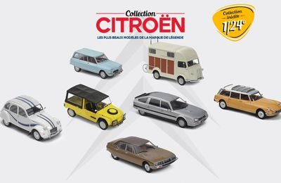 Hachette : Collection Citroën à l'échelle 1/24
