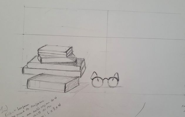 Cours de bases de dessin du mois de décembre : dernière séance du trimestre !