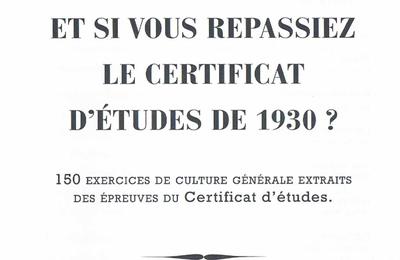 Certificat d'étude 1930