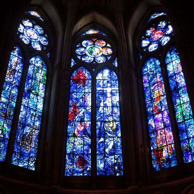 Les vitraux Chagall, cathédrale de Reims