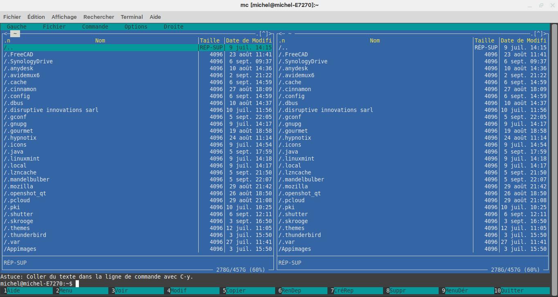 Midnight commander : Un navigateur de fichier pour les Geeks !