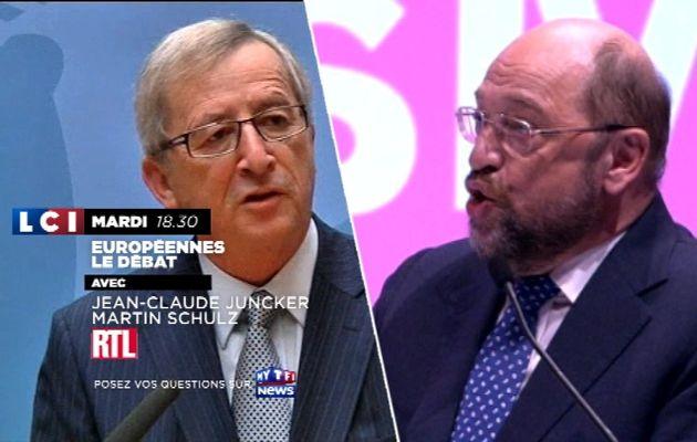 Elections Europennes : Débat entre Martin SCHULZ et Jean-Claude JUNCKER sur LCI et RTL