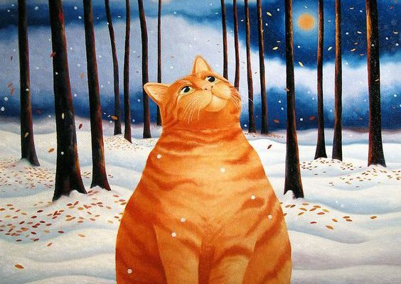 Chat neige...