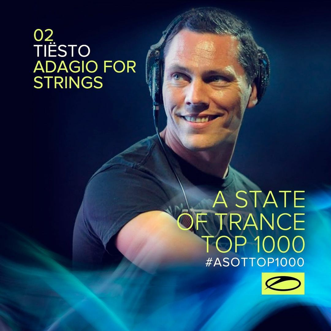 n° 2 Top 1000 tracks of the all-time A State Of Trance with: Tiësto - Adagio For Strings