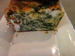 Cake feta épinards ou Spanakopita