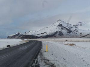 Je roule seulement quelques kms sous un paysage complètement différent de la veille