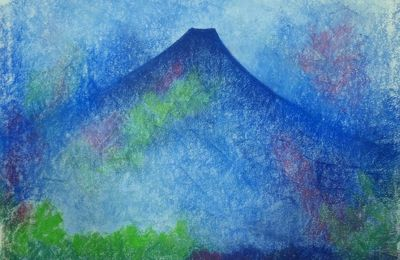 Memories of Japan, paint and pastel