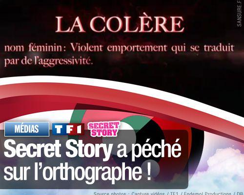 Secret Story a péché sur l'orthographe !