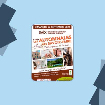 5ème édition du salon « Les Automnales des savoir-faire » dimanche 26 septembre à Saïx (81)