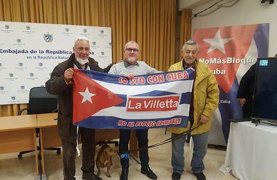 In memoria dei partigiani TINA COSTA, BIANCA BRACCI TORSI E ORLANDO LOMBARDI, combattenti per l'Italia e per LA RIVOLUZIONE CUBANA CONTRO IL GENOCIDA BLOCCO STATUNITENSE