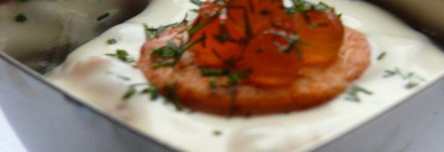 Tiramisù en déclinaison de saumon