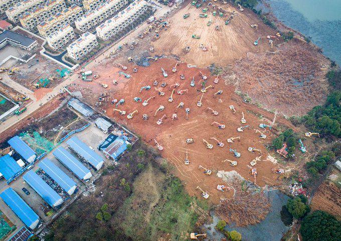La ville de Wuhan construit un hôpital de 25 000 m² en  seulement 10 jours