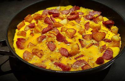 Omelette saucisse de morteau