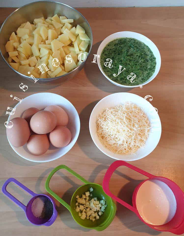 Quiche sans pâte au pommes de terre et épinard