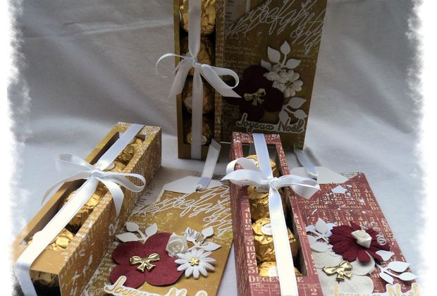 3 cartes porte-Ferrero Rocher...
