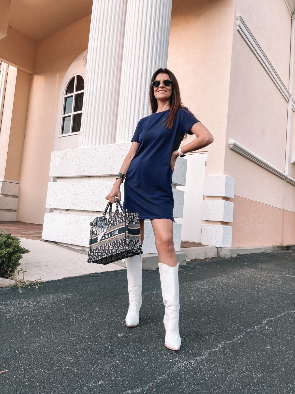 Easy T-shirt Dress and Boots