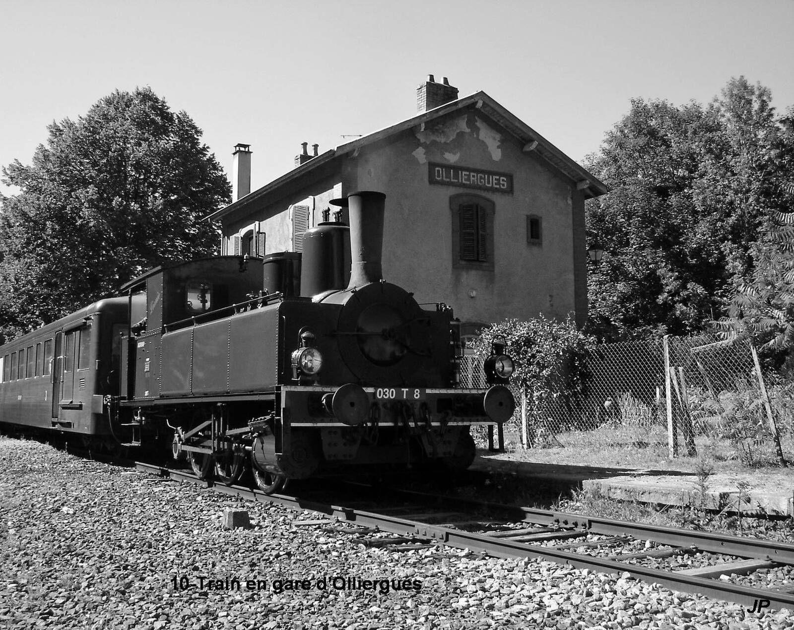 Accident de chemin de fer à Olliergues