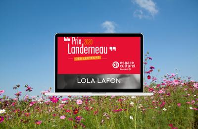 Lola Lafon, lauréate du Prix Landerneau des Lecteurs 2020