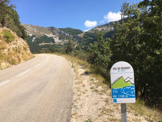 Col de Rousset, en aller-retour, depuis Crest (113 km)