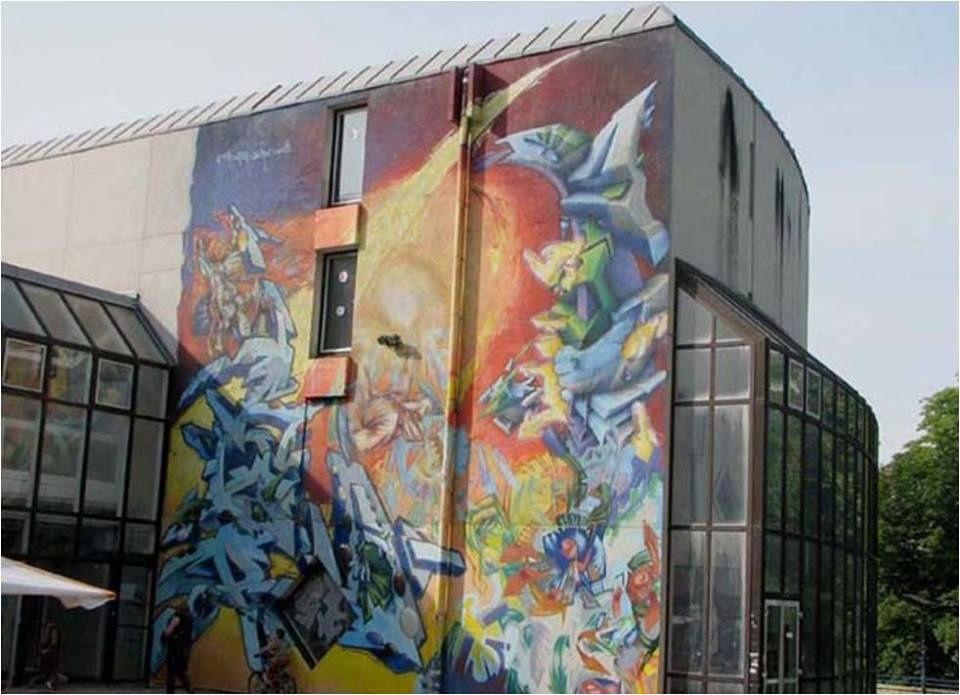 2009 :murs peint de Niort dont je n'ai pas pu trouver l'artiste qui les a peint mais qui sont remarquables: si vous les connaissez laissez moi un message!