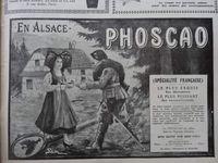 L'Illustration 13.11.1915, Annonces Rasurel, Cratère du Haut-Fourneau, Phoscao, l'Alsacienne et le soldat, Cl. Elisabeth Poulain