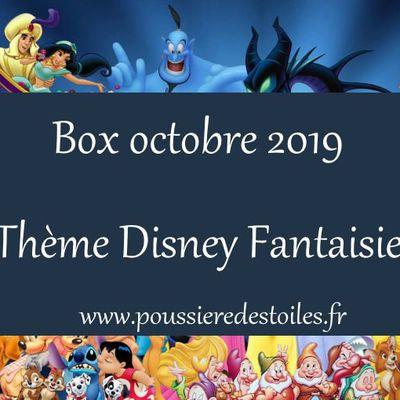 Box d'octobre 2019 sur le thème Disney