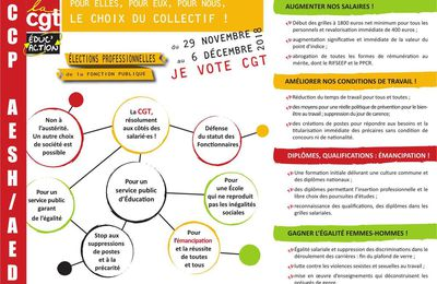 CCP AED-AESH : Profession de foi CGT éduc'action