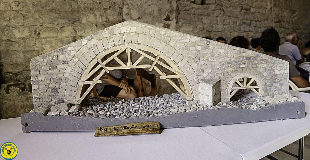 Conférence sur l'histoire , la restauration (?) du pont du Moulin de Thorame Haute