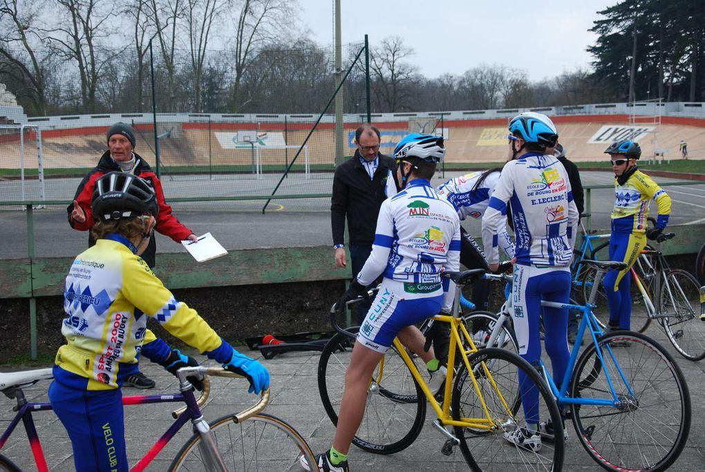 Quelques photos de l'entrainement piste à Lyon