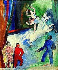 L'écuyère à panneau au Cirque Medrano de Jean Dufy (1932-1935)