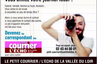 Le Petit Courrier-l'Echo de la Vallée du Loir recherche des correspondants