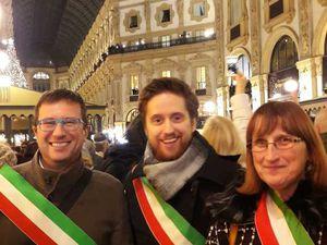 """Milano 10 dicembre 2019: manifestazione dei Sindaci """"L'odio non ha futuro"""""""