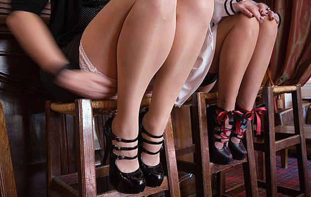 Bordello shoes & revers de bas nylon