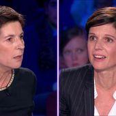 """VIDEO. """"On n'est pas couché"""" : Christine Angot s'en prend à l'écologiste Sandrine Rousseau des femmes victimes d'agressions sexuelles"""