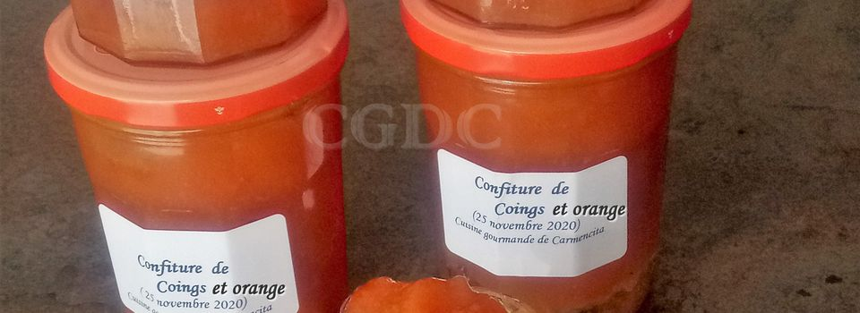 Confiture de coings et orange