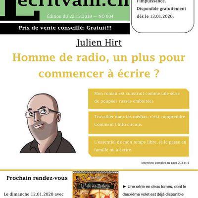 Lecritvain NO 005 du 22.12.2019 (Julien Hirt)