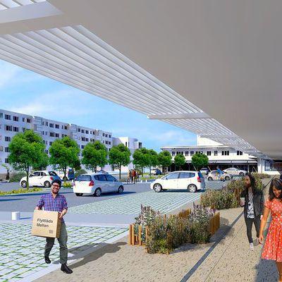 Restructuration du centre commercial Châtaigneraie-Arago à Pessac
